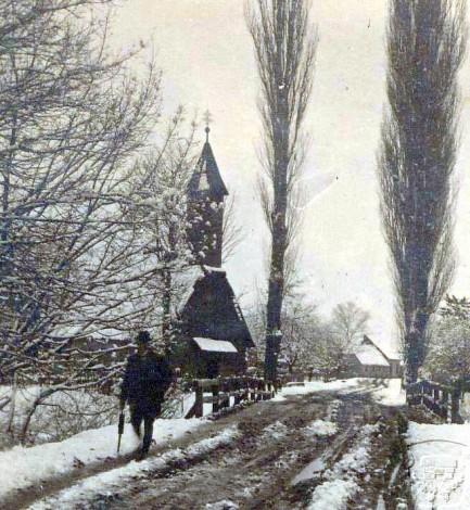 stara slika drvene kapelice